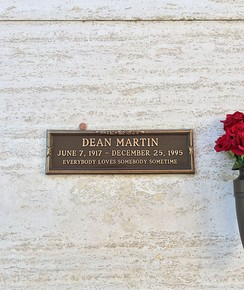 Crypt of Dean Martin, at Westwood Memorial Park