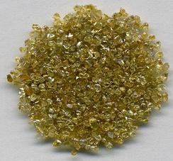 Rough diamonds ~1 to 1.5 mm in size from DR Congo.