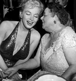 Marilyn Monroe with organizer Elsa Maxwell at the 1957 April in Paris Ball
