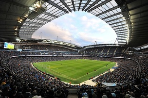 The Etihad Stadium, home to Premier League club Manchester City FC and host stadium for the 2002 Commonwealth Games