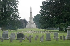 Soldiers National Monument at the center of Gettysburg National Cemetery