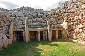 Ġgantija temples in Gozo, Malta, some of the world's oldest free-standing structures