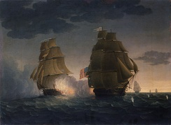 The capture of USS President was the last naval duel to take place during the conflict, with its combatants unaware of the signing of the Treaty of Ghent several weeks prior.