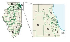 Illinois districts in these elections