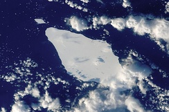 Iceberg A22A in the South Atlantic Ocean