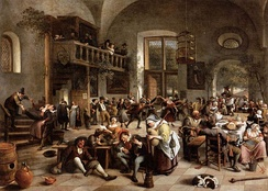 A Dutch tavern scene by Jan Steen, late 17th century