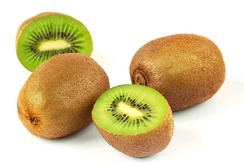 Kiwifruit, a berry derived from a compound (many carpellate) superior ovary