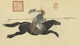 A Mongol soldier called Ayusi from the high Qing era, by Giuseppe Castiglione, 1755