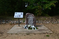 Memorial stone in Rõuge Parish to Forest Brothers who died in Lükka battle