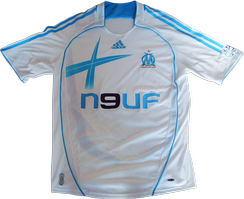 The home shirt of Olympique de Marseille for the 2006–07 season