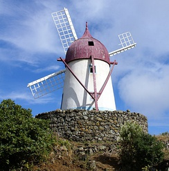 Flemish settlers built windmills like this one on Graciosa Island.