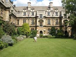 The Croquet Lawn in New Court, designed by Sir George Gilbert Scott