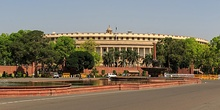Lok Sabha, the meeting place of the members.