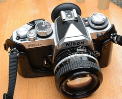 Nikon FM3A SLR with 50mm lens