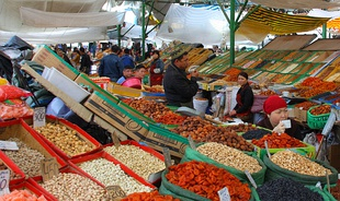 Osh Bazaar in Bishkek, Kyrgyzstan- dried fruits and nuts.jpg