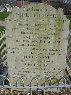 Phoebe Hessel, whose eventful life made her a Brighton celebrity, is buried in this listed tomb.