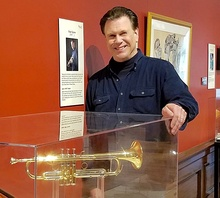 Roger Ingram at the Kentucky Museum with his 1600i trumpet