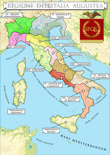 Expansion of the territory known as Italy from the establishment of the Roman Republic until Diocletian.