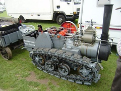 A working model of the original Hornsby & Sons tracked tractor