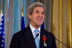Kerry after he received Grand Officer of the Legion of Honour from French Foreign Minister Jean-Marc Ayrault.