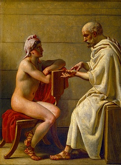 Socrates and Alcibiades, by Christoffer Wilhelm Eckersberg
