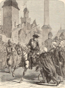 Suvorov entering Warsaw in 1794