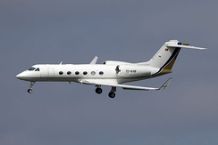 The G450 (GIV-X) is 12 in (30 cm) longer and the main door is moved aft, it has updated engines, flight deck and systems.