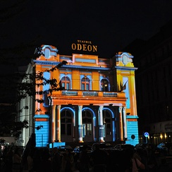 Odeon Theater at night