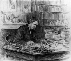 Huxley by Wirgmana drawing in pencil, 1882