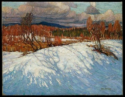 Tom Thomson, In Algonquin Park, Winter 1914-15. McMichael Canadian Art Collection, Kleinburg