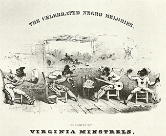 Detail from cover of The Celebrated Negro Melodies, as Sung by the Virginia Minstrels, 1843