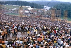 The Woodstock Music and Art Festival, at which Sly and the Family Stone performed on August 17, 1969.