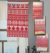Rushnyk, old traditional Russian weaving style. The patterns vary between regions, and can be found across Russian history in textiles and Russian architecture