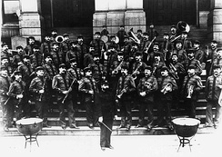 Sousa and his newly formed civilian band, 1893