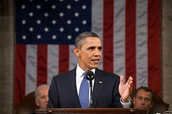 Barack Obama, 44th President of the United States (2009–2017), delivering the State of the Union Address in 2011