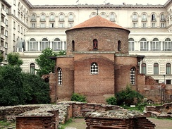 Dated from the early 4th century, the Church of Saint George is the oldest standing edifice in Sofia