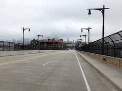 View east along the 14th Street Viaduct entering Hoboken