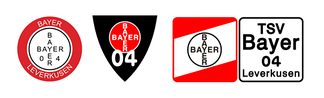 Bayer Leverkusen historical team logos.