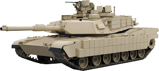 The U.S. Army's M1 Abrams MBT  with TUSK upgrade uses composite, reactive and slat armour