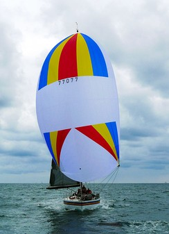 "Amante, A 1983 ""Choate 48"" in Newport Beach, California, in February 2015 flying a Symmetric spinnaker"