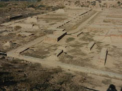 View of Granary and Great Hall on Mound F in Harappa