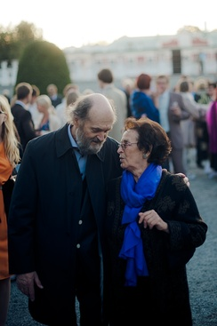Pärt with his wife Nora in 2012