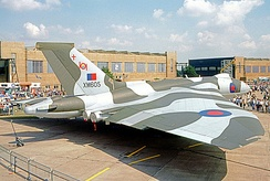101 Squadron Vulcan B.2 of the RAF Waddington Wing in 1972