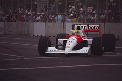 Ayrton Senna took a comfortable win in his McLaren MP4/6.