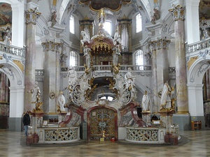 Late Baroque or Rococo: High altar of Basilika Vierzehnheiligen in Bavaria (1743–1772)