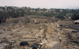 Extensive excavations at Beit She'an, Israel