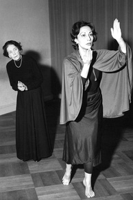 Mary Wigman, pioneer of Expressionist dance (left)