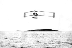 The first Burgess-Dunne floatplane at Marblehead in 1914