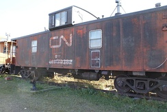 Caboose built in the Hawker Siddeley plant of Thunder Bay, Ontario