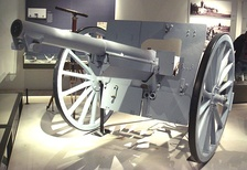 The French Canon de 75 modèle 1897, the first modern artillery piece.